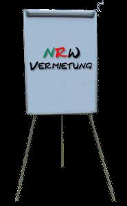 Flipchart (Dreibein mit Alu Rahmen) höhenverstellbar, magnetisch und beschreibbar für 15 Euro mieten